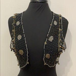 COPY - Black label beaded vest